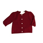 Strickjacke Wolle Holiday rot