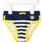 Badehose navy-weiss-gelb