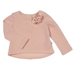 Sweatshirt Rosen Silber-Optik
