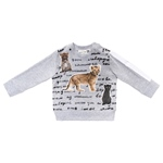 Sweatshirt Safari-Applikation + Schrift