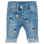 Jeans Donald Stickerei + Fransen
