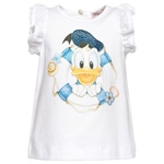 T-Shirt Donald Druck+Strass+Spitzen-Arm