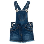 Latz-Short Fransen Denim