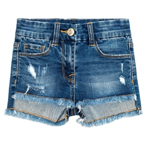 Jeansshort Fransen destroyed (2-7J)