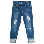 Jeans Fransen destroyed weich (8-14J)