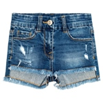Jeansshort Fransen destroyed (8-14J)