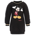 Sweatkleid Strass-Mickey, Bommel (2-7J)