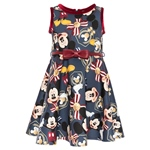 Neopren-Kleid, Mickey-Druck all-over