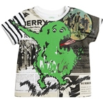 T-Shirt GREEN MONSTER Druck (6-18m)
