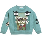 Sweatshirt FOREVER G Patch-Face (8-14J)