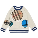 Sweatshirt SCARF Karo-Patches (3-6J)