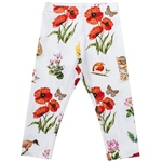 Leggings Tier-Mohn-Druck