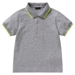 Piqué-Polo Neon-Rand in gelb (6-18m)