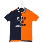 Poloshirt orange/marine Wappen (2-7J)
