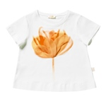 T-Shirt Tüllblume in orange, A-Form