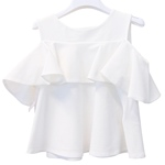 Shirt Off-Shoulder-Arrm Volant