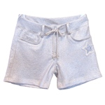 Sweat-Short Paillettenstern+Lurex-Optik