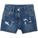 "Jeans-Short weich ""destroyed"" (8-14J)"