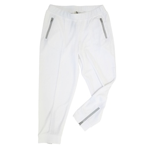 Jogginghose Lurex-Optik in silber, Zips