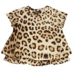 Doppellagiges T-Shirt Leoprint all-over