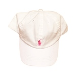 Cap weiss+rosa Polospieler Chino