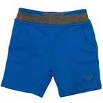 Sweat-Shorts Kontrast-Bund royal (6-18m)