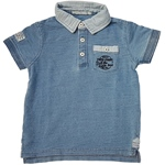 Poloshirt Denim-Optik blau (4-6J)
