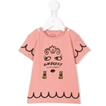 T-Shirt Gesicht+Gold-Stickerei (6-18m)