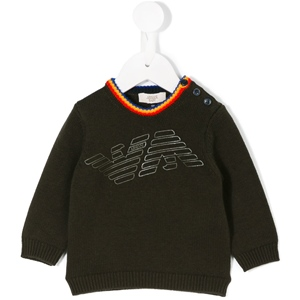 Pullover Kragen royal-gelb-orange+Druck